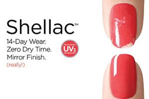 Shellac nail products