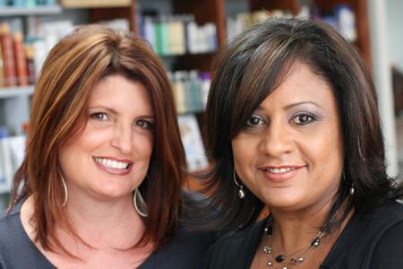 The owners of the salon, Johnna Gendron and Angie De La Mota
